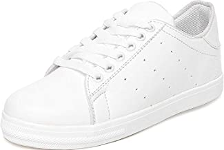 AlexaStar Shoes for Women Girls Casual White Canvas Sneakers Stylish