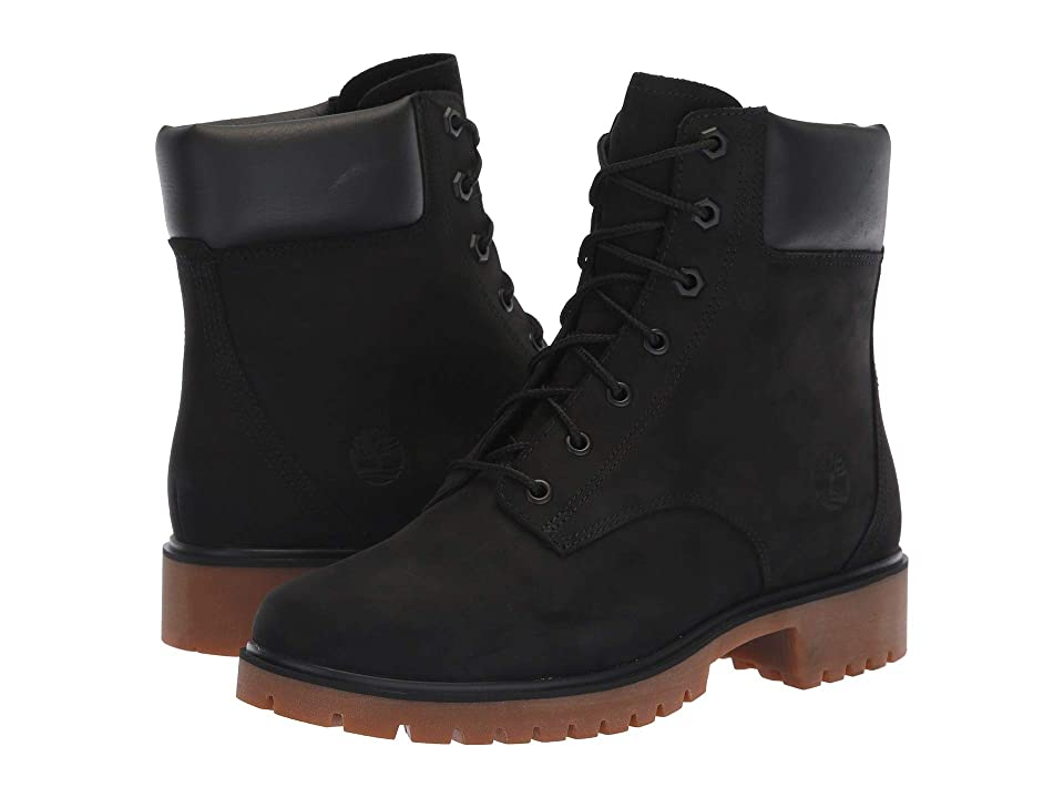 Timberland Jayne 6 Waterproof Boot (Black Nubuck) Women