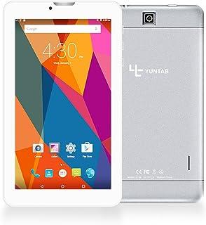 Yuntab New E706 - 3G Tablet de 7 Pulgadas Aleación Metal atrás ( 1,3GHZ Quad-Core, 8GB, Resolución HD de 1024x600, Google Android 6.0, Dual SIM, 3G+WiFi, Bluetooth, Doble Cámara) (Plata)
