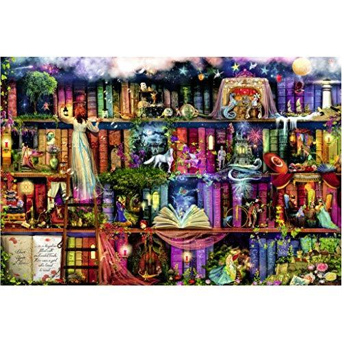 Puzzels 1000 Stuks, 1000/1500/2000/3000/4000/5000 Stukjes, Fee Boekenplank, Houten Puzzel Woondecoratie Kinderen Decompressie Speelgoed Set -P4.24 (Size : 4000 pieces)