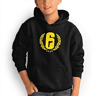 Youth Hoodie Rainbow Six Siege Logo 100% Cotton Casual Long Sleeve Sweatshirt Pullover with Pockets for Boys and Girls