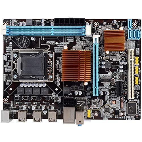 Pumprout X58 1366 Placa Base de computadora Serie RX Tarjeta gráfica de Doble Canal de Gran Capacidad sin Tarjeta de Red integrada para Escritorio