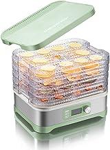 Déshydrateur de fruits pour aliments Séchoir pour aliments avec minuterie programmable à thermostat réglable 35-70 ° C 1-1...