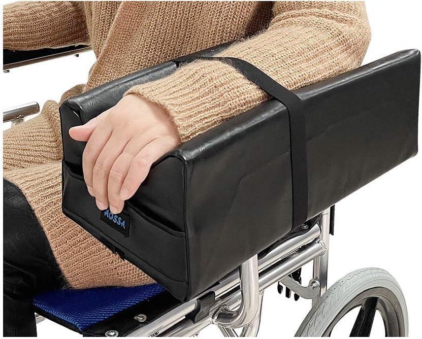 Reposabrazos para silla de ruedas almohadillas para reposabrazos de silla de ruedas Apoyabrazos lateral para piezas de silla de ruedas, cojines de apoyo contorneado soporte elevador bandeja de apoyo