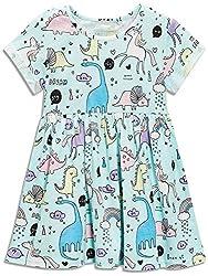 1. Bumeex Little Girls Cotton Short Sleeve Dinosaur Dress
