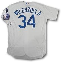 Fernando Valenzuela Hand Signed Auto MLB Official LA Dodgers Jersey MLB Holo 48