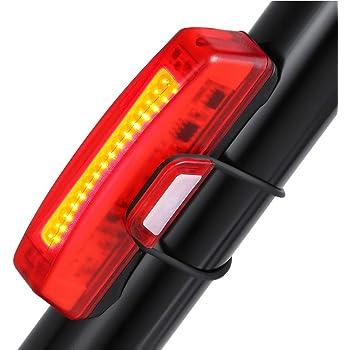 6 Modos Casco Luces de Seguridad para Ciclismo Hinmay Luz Trasera de Bicicleta Recargable por USB Potente luz LED superbrillante luz Trasera f/ácil de Instalar luz roja