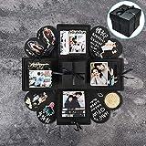 DIY Surprise Explosion Box, Love Memory Photo Album for Valentine's Day Anniversary Birthday Gift Wedding Creative Scrapbook