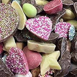 An assortment of all the retro favourites that Hannahs make A mix of strawberry, milk and white chocolate flavoured candies Ideal mix for parties