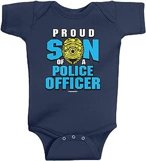 Threadrock Baby Boys' Proud Son of a Police Officer Infant Bodysuit