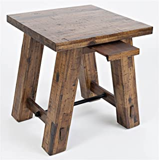 Jofran Cannon Valley Trestle End Table, W X 22