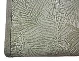 NORA HOME Piqué-Tagesdecke Palmblätter aus Jacquard, alle Maße grün, 235 x 260 cm (Bett mit 135 cm)