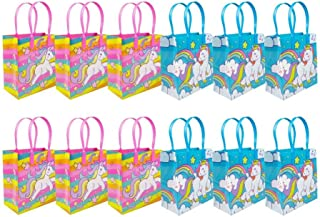 Unicorn Party Favor Bags Treat Bags, 12 Pack
