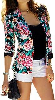 97bcdccae7992 fleur de mode motif de fleur imprimee courte veste de costume a manches  longues pardessus