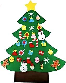 comprar comparacion Unique Store Árbol de Navidad de Fieltro, 3ft Bricolaje árbol de Navidad de Fieltro con 32 Adornos Desmontables año niños ...