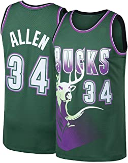 Pdqgd Men's Allen Jersey Adult Milwaukee Basketball Jesus 34 Ray