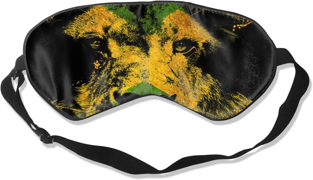 OFFicial Jamaican Flag with Lion Eye Sleeping Mask 100% Double-Sided Sale price