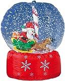 infactory Aufblasbare Schnee Kugel: Riesen-XXL Schneekugel mit Santa Claus und mit Gebläse (XXL Schneekugel aufblasbar)