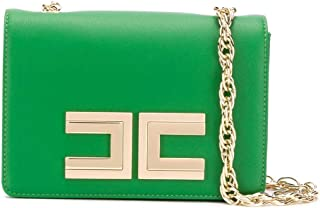 Luxury Fashion | Elisabetta Franchi Womens BS12A01E2124 Green Shoulder Bag |