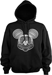 MICKEY MOUSE Officially Licensed Line Art Big & Tall Hoodie (Black)