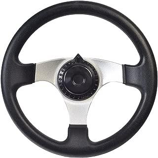 AlveyTech Go-Kart Steering Wheel with Cap for Kandi, Hammerhead, Roketa, Taotao Go-Karts & Dune Buggies