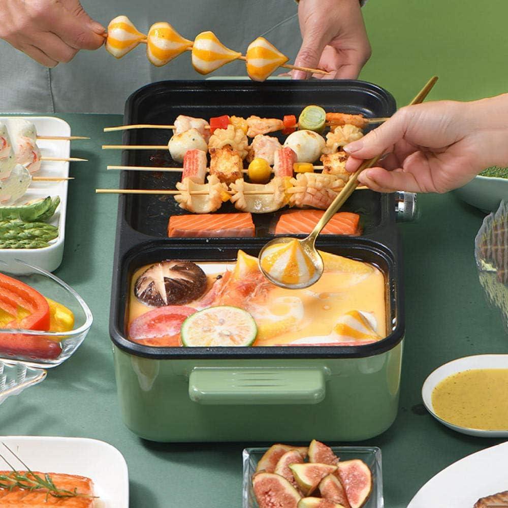 JINMOQI Barbecue Thailandais Marmite de Barbecue électrique intégrée marmite marmite marmite Plaque de Cuisson électrique poêle antiadhésive dortoir étudiant Blanc Domestique blanc