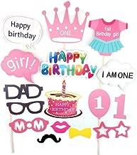 Arichtop 1er anniversaire Chapeau de f/ête de naissance f/ête danniversaire de photo Props Bandeau Nouveau-n/é Glitter Party Cap