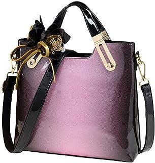 Handbags/Hand Large Bag/Fashion Light Leather/Shoulder Bag Tide Ms. Messenger Bag Paint. jszzz (Color : Purple)