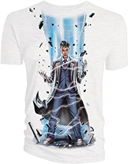 Classic Womens T-Shirt 10Th Doctor Laser White