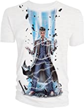 Doctor Who Classic Womens T-Shirt 10Th Doctor Laser White