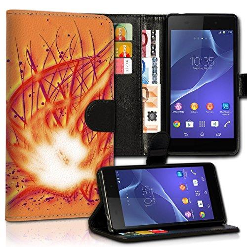 wicostar Book Style Huawei Ascend G525 Premium PU-Leder Tasche Flip Brieftasche Handy Hülle Kartenfächer mit Standfunktion für Huawei Ascend G525 - Design Flip MVC74