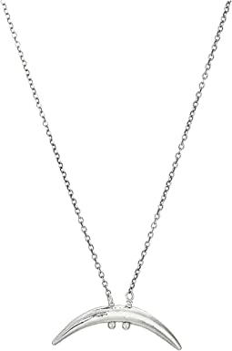 Silver Petite Horn Necklace