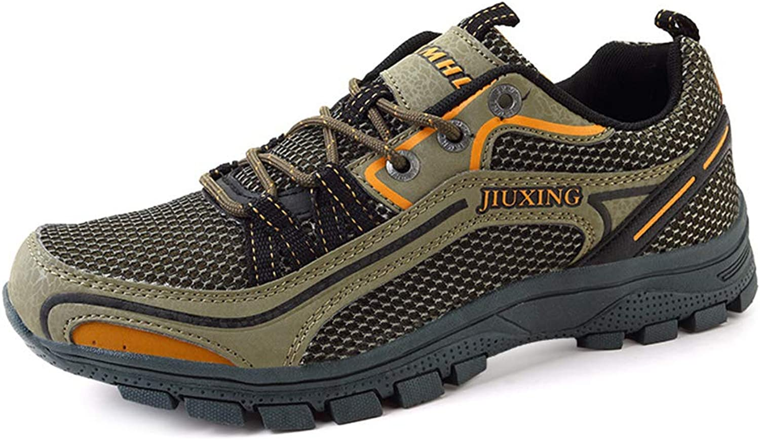 SELCNG Hiking shoes Unisex Walking shoes Waterproof Walking shoes Men's Walking shoes with Outdoor Sports Hiking shoes Non-Slip outsole-green-42
