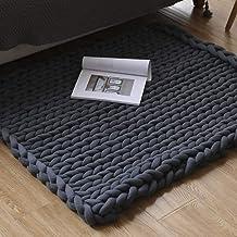 Grof gebreide gezellige deken dekens gemaakt van merino wol hand dikke gebreide warme, sofa deken zeer dikke deken handgew...