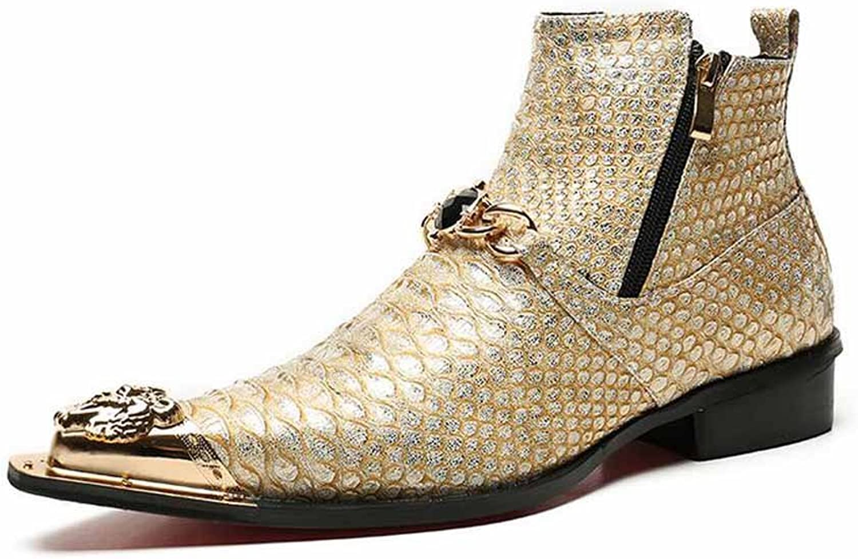 GLSHI män Retro pointed skor skor skor Oxford Mönster Martin stövlar Personlig prestationsförmåga Ankle stövlar  bästa priserna