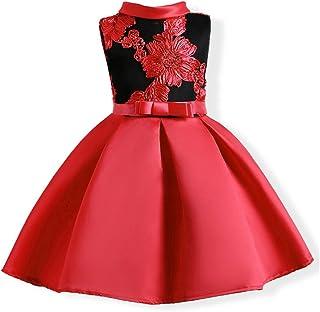 be5dd9371 LZH Vestido de Niñas Boda Fiesta de Princesa Encaje de Flor Cóctel Vestido