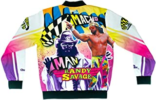 WWE Macho Man Randy Savage Retro Fanimation Chalk Line Jacket