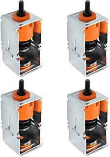 (4 Pcs) Spring Vibration Isolator with Removable Frame Design, Ceiling Suspended Mounted Hanger, 110 Lb Capacity for Soundproof and Shockproof A/C Air Handler Bedroom Theatre Studio Office Hotel