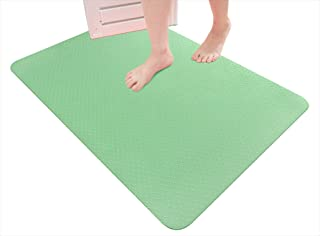 サンコー お風呂洗い場マット 薄い 滑り 引っかかり つまずき予防 バスマット 両面ずれにくい加工 置くだけ 60×90cm グリーン AF-10