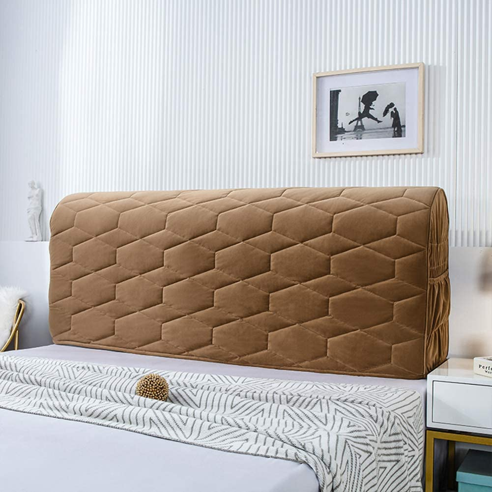 Popularity QLIGHA Bed Headboard Dust Cover Stretch Bac Over item handling ☆ All-Inclusive Fabric