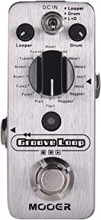 Muslady MOOER Groove Loop Drum Machine & Looper Pedal 3 modos Máx. 20 minutos de tiempo Tap Tempo True Bypass Full Metal Shell