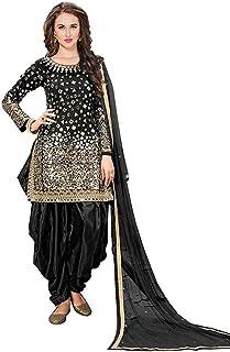 Fabzara Women's Taffeta Silk Semi-stitched Salwar Suit