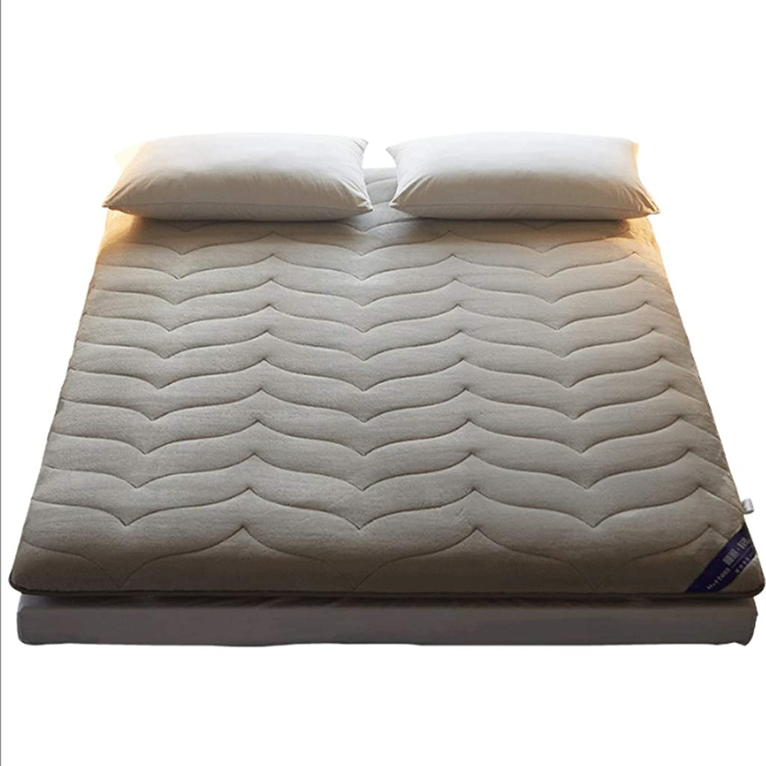 7cm Thick Mattress, Comfortable Warm Sponge Pad, Both Sides are Available (color   A, Size   90x200cm)