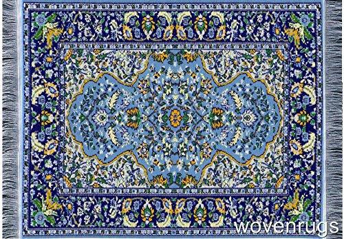Inusitus Alfombrilla para ratón – Accesorio de oficina – Mini alfombra oriental – Accesorio para ordenador (azul)
