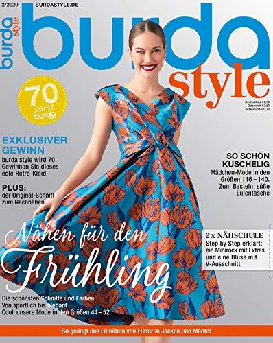 burda style Nähmagazin: Februar-Ausgabe [2020-2], Schnittmuster ideal geeignet für Anfänger und Näherfahrene