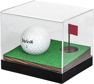 J JACKCUBE DESIGN Clear Acrylic Golf Ball Memorabilia Display Case, Dust Protection Transparent Holder Storage Box for Sou...