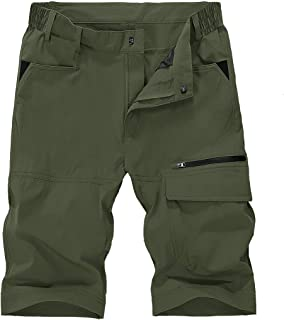 TBMPOY Men's Quick Dry Hiking Shorts Outdoor Lightweight Sports Casual Cargo Shorts Zipper Pockets
