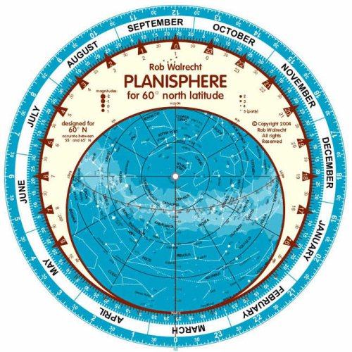 Planisphere for 60 Degrees North Latitude (English) (English planispheres)