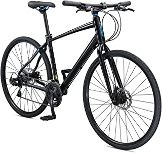 Schwinn Vantage F3 700c Sport Hybrid Road Bike with Flat Bar and Disc Brakes, 60cm/Extra Large Frame, Black