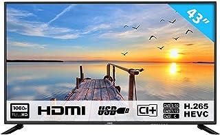 HKC 43F6 109 cm (43 Pouces) téléviseur LED (Full HD, Triple Tuner avec TNT, CI +,..